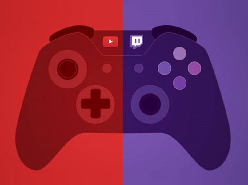 control with youtube and twitch logos