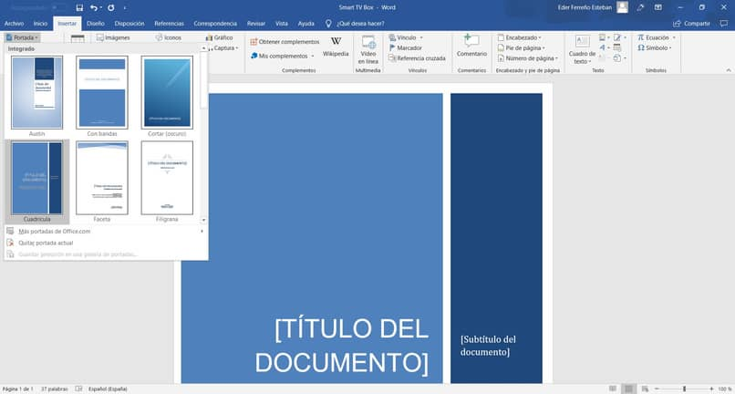 document in word