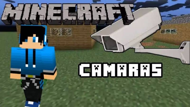 How to Make or Have a Security or Surveillance Camera in Minecraft It Works!