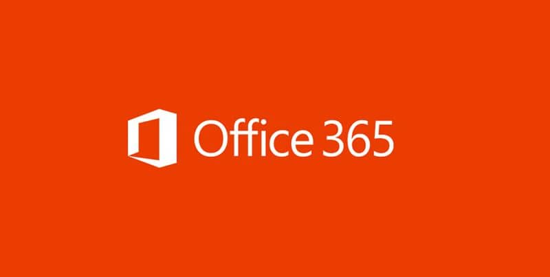 logo office 365 red background