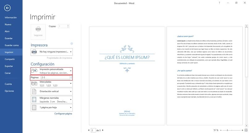 How to Print One or Multiple Page Ranges in Word?  - Step by step (Example)
