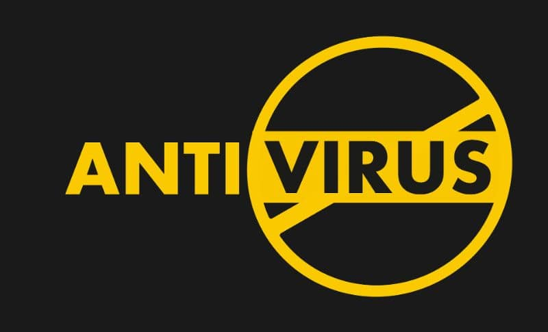 Antivirus color yellow black background