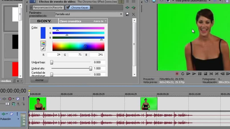 How to Make the Chroma Key or Green Screen Effect in Sony Vegas Pro - Simple Tutorial