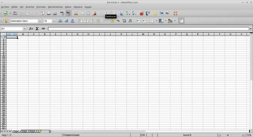 header in LibreOffice Calc