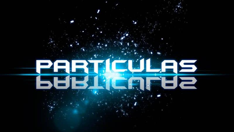 title particles with black background and particles