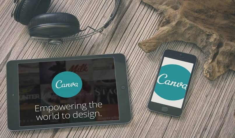 canva logo on devices