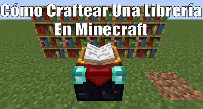 How to Make or Craft a Library or Bookcase in Minecraft - Crafting Book Library