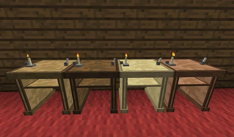minecraft game writing table