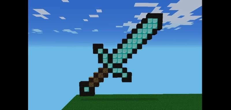 How to Make or Craft a Sword in Minecraft - Sword Crafting (Example)