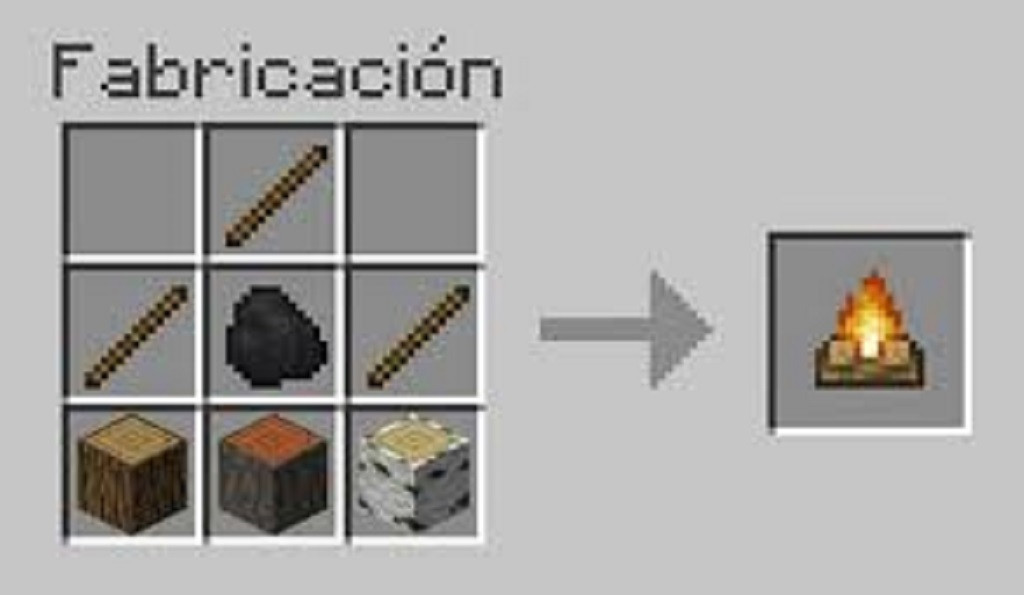 How to make a campfire or bonfire in Minecraft? Very easy!
