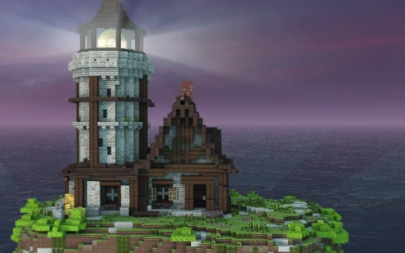 How to Make a Rotating lighthouse or a Magic lighthouse in Minecraft With light!