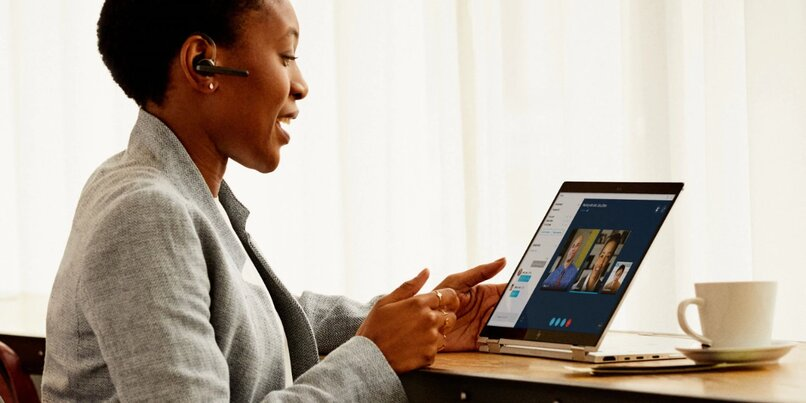 video conferencing woman