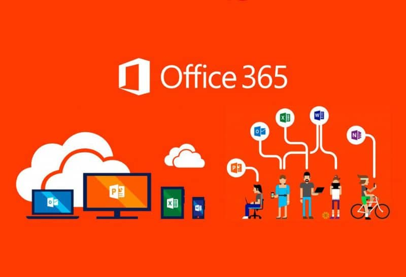 office 365 red background illustrations