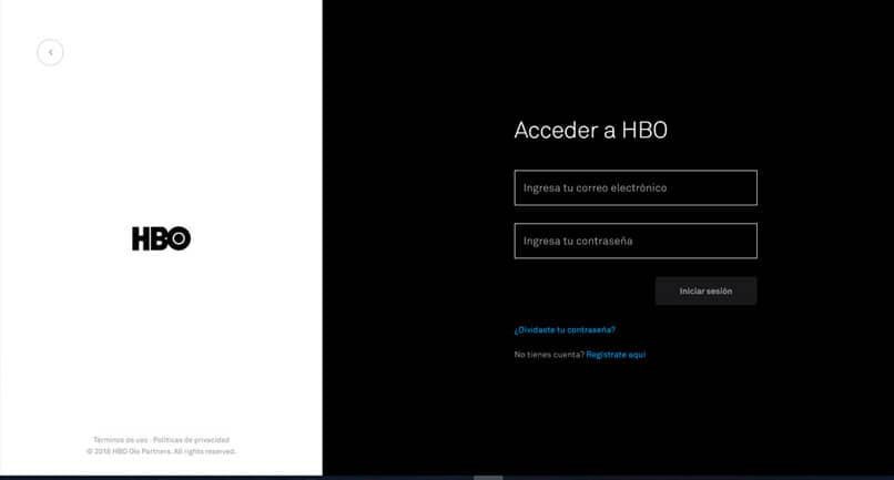 Sign in to HBO from PC