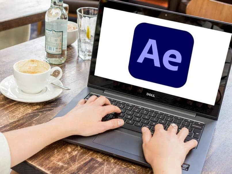 using after effects on a laptop