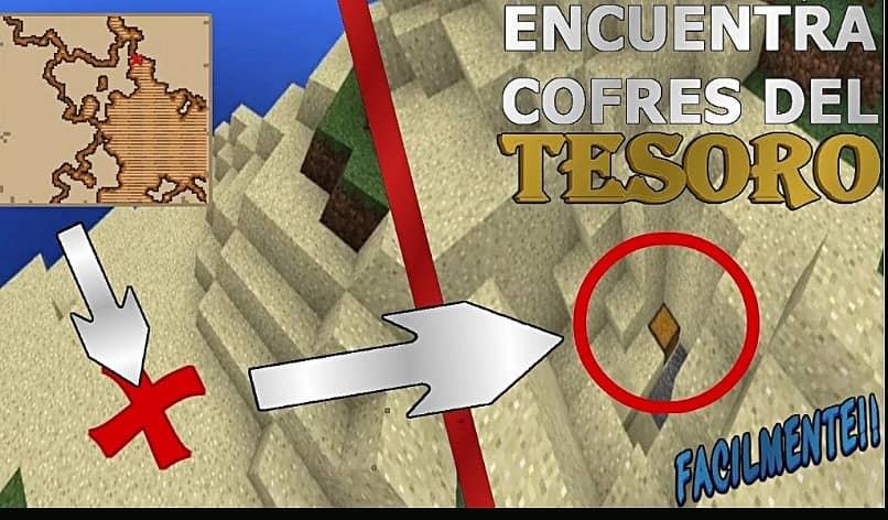 find a treasure by making your map in Minecraft