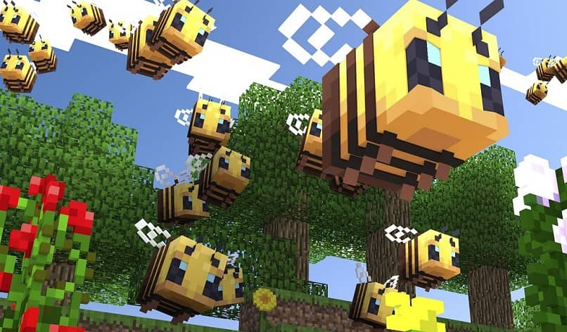 bees in minecraft game