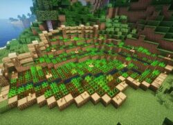 How to Make an Automatic Garden in Minecraft?  - Automatic Crops (Example)