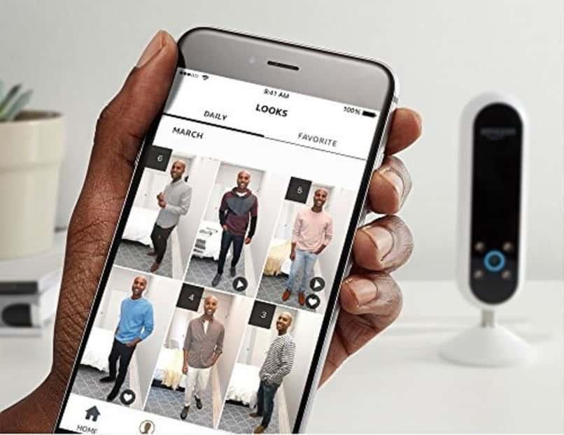 different combinations of outfits in mobile application