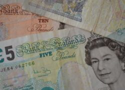 What is the Pound Sterling and where is it from and how much is the value in Dollars or Euros?