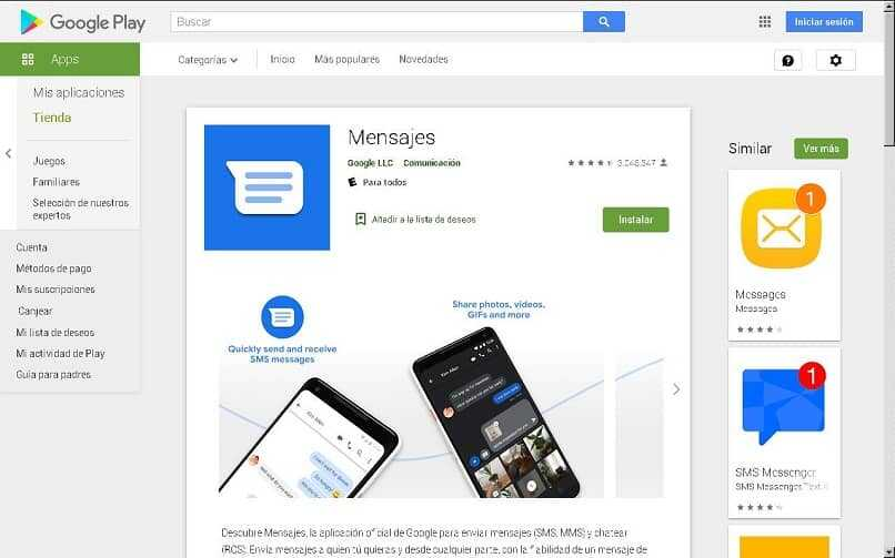 google messages in play store