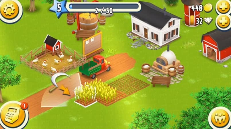 example of farm and elements in hay day