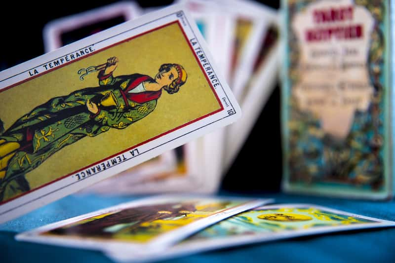different tarot cards of marseille