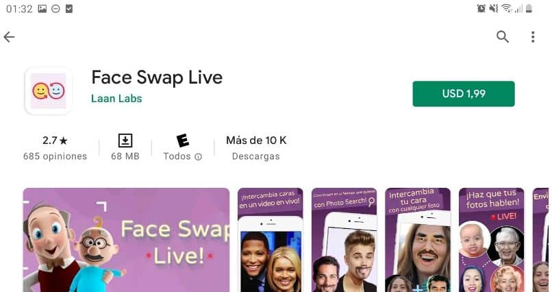 best face mount application real time face swap live