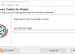 How to Repair Damaged MPP Files with Recovery Toolbox for Project (Example)