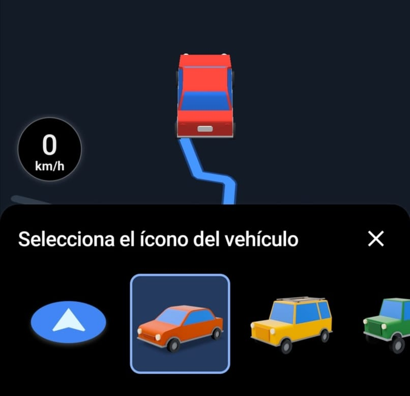 different car icons for Google Maps