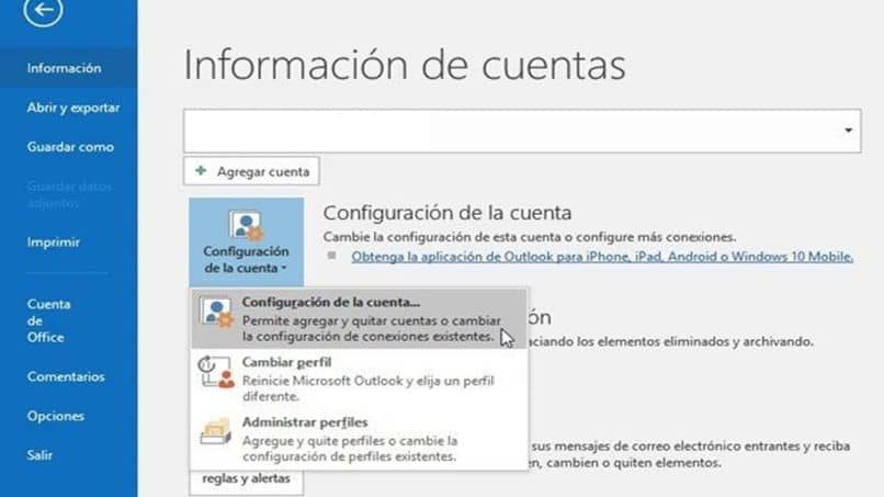 Outlook home page