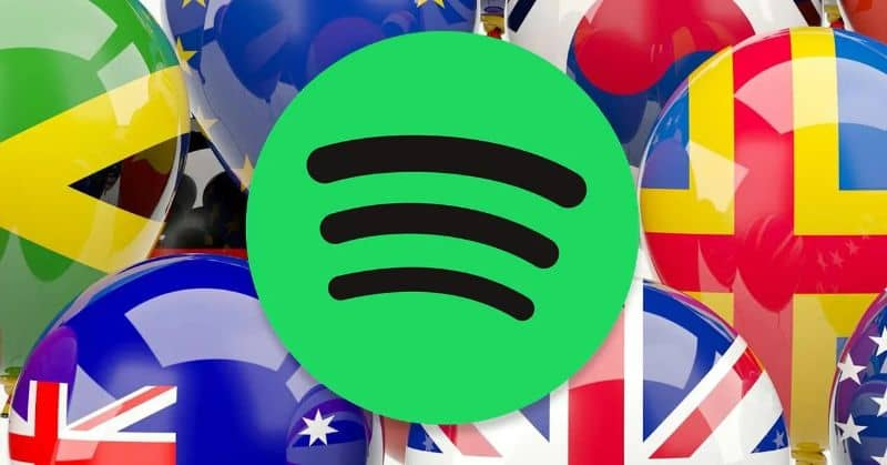 Spotify logo flag of different countries
