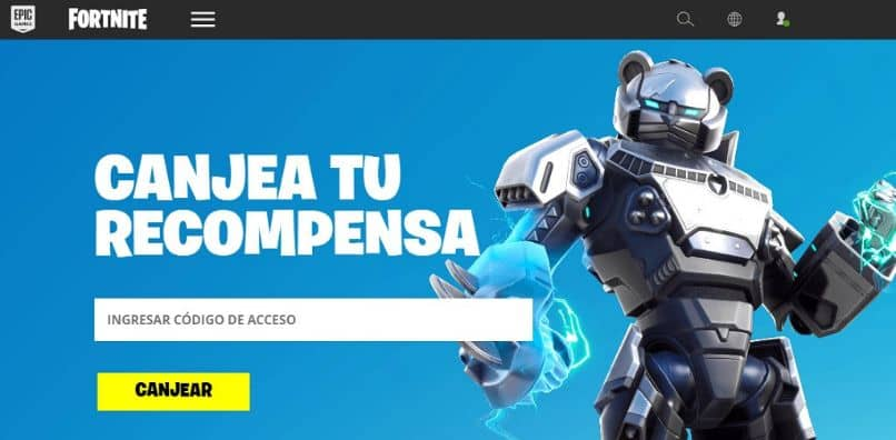 redeem a code in Fortnite from the web