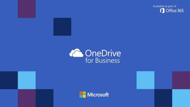 one drive and microsoft logos blue background