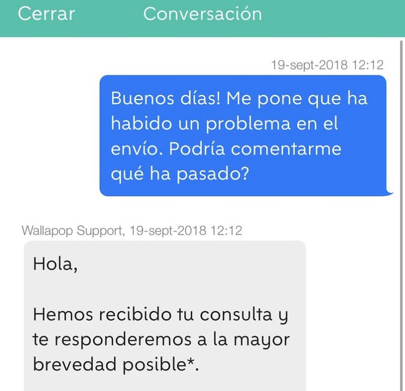 chat technical support wallapop