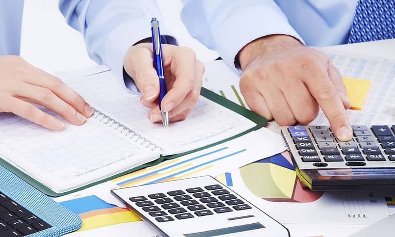 two accountants conducting an audit