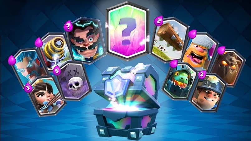 clash royale legendary chest and cards