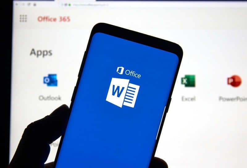 Phone with Microsoft Office and background programs