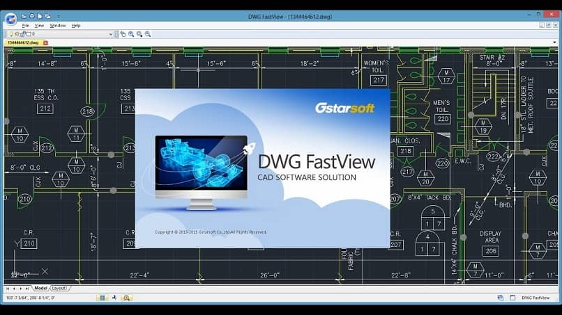 opening an image in an already converted dwg file