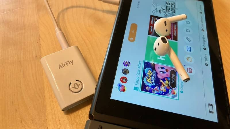 Nintendo switch Airpods device