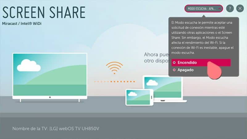 Connect using Screen Share