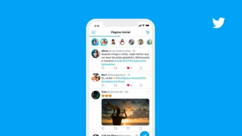 Android mobile with Tweets in the Instagram Storie