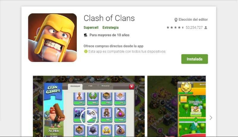 Store Clash of Clans