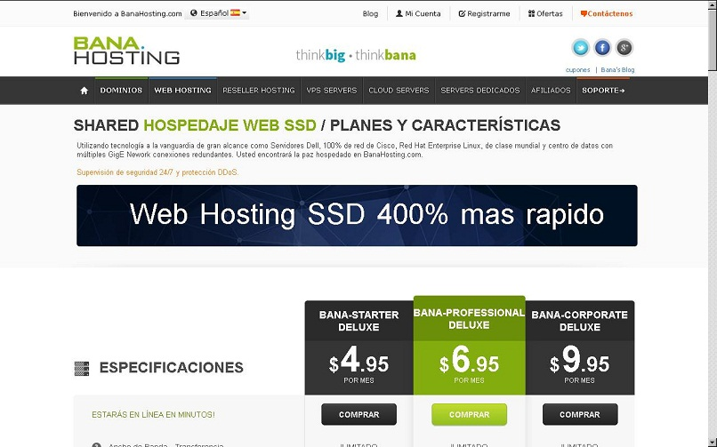 features that Banahosting hosting plans have