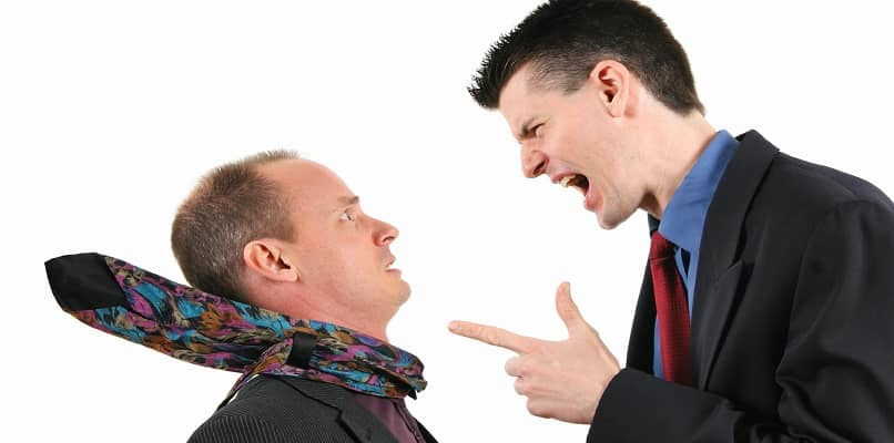 employee in discussion with boss