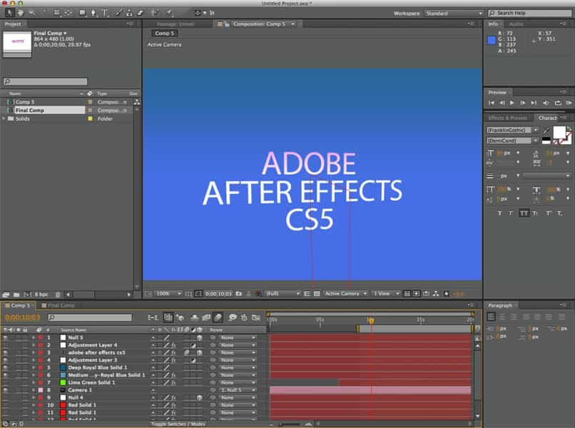 after effects change different colors