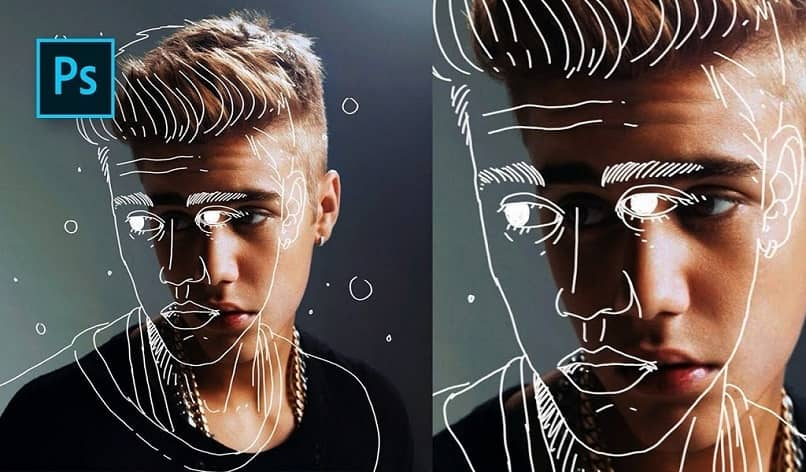 justin bieber with effect