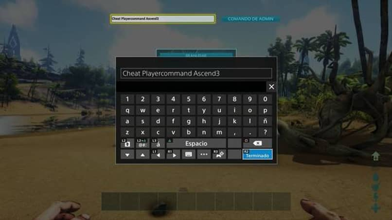 commands written to be administrator in ark