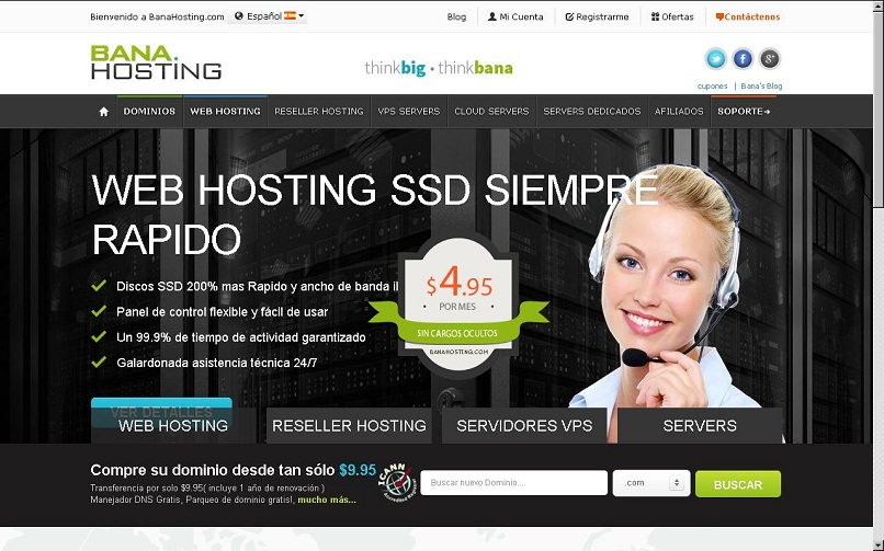 hosting and domain services are offered at Banahosting