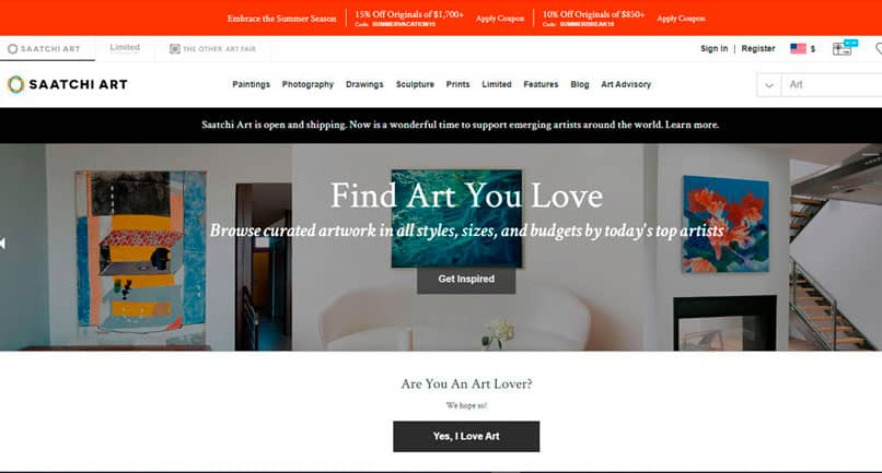Buy and sell at Saatchi Art